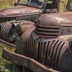 Rusty Twin Trucks - Parham P Baker Photography
