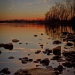 Jacobson Sunset and Rocks - Parham P Baker Photography